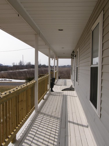New siding and walkway