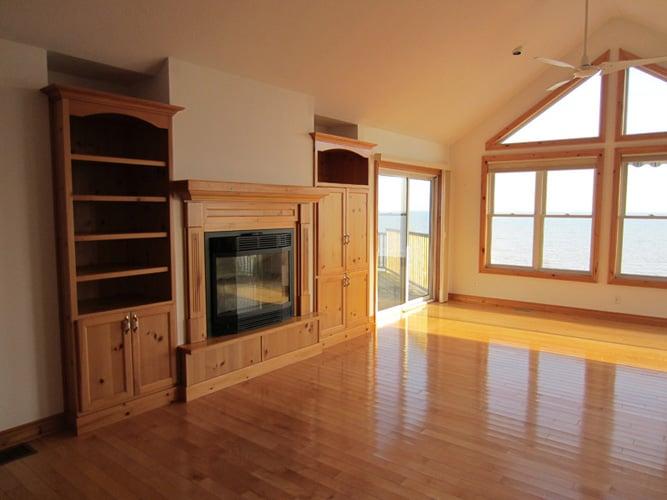Living room reno in Port Dover
