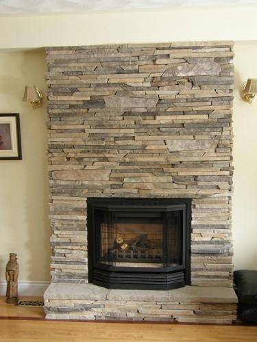 newly built fireplace