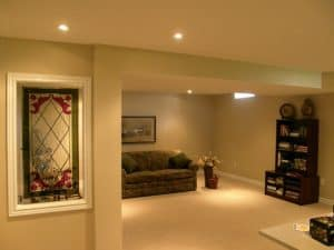 Renovated living room basement