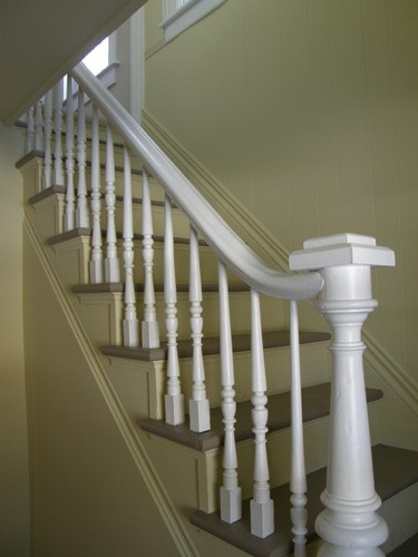 Custom made stair case and banister