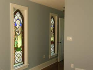 Stained glass windows and framing