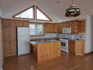 Kitchen renovated with cabinets