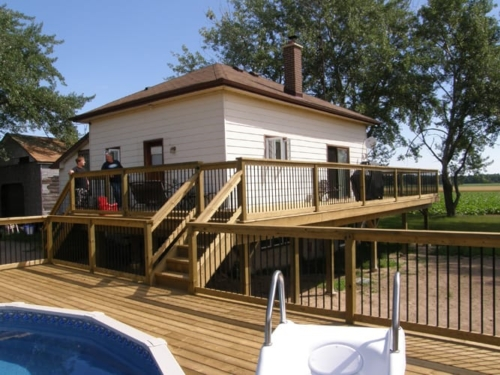 Awesome deck and poolside construction