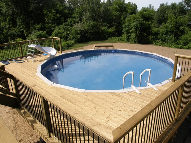 Pool deck surround