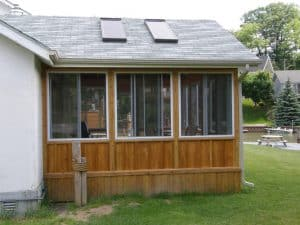 Addition of Sunroom to home