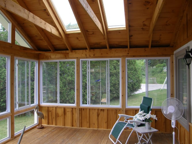 Interior sunroom addition