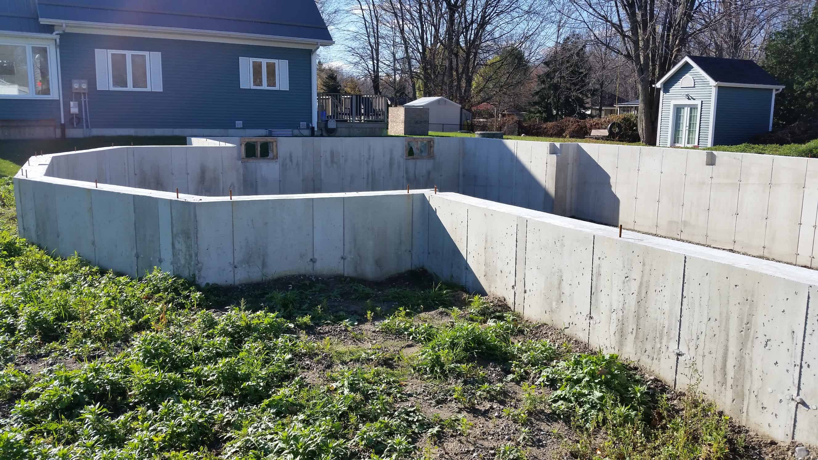 Foundation of a new home